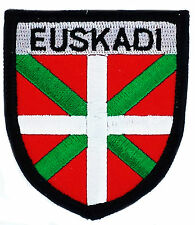FLAG PATCH PATCHES EUSKADI PAYS BASQUE  coat of arms  IRON ON EMBROIDERED EMBLEM