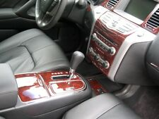 2009 2010 2011 INTERIOR BURL WOOD DASH TRIM KIT SET FOR NISSAN MURANO S SL LE SV