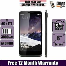 "Vodafone Locked Smart 4 Max 4G  Quad Core 6"" HD NFC Android Smartphone - Black"