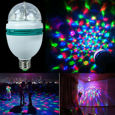 E27 RGB Xmas Crystal Ball Rotating LED Stage Light Bulb Club DJ Disco Party Bar