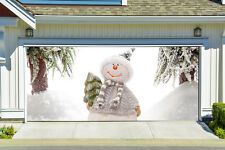 Christmas Garage Door Covers 3D Banners Outside House Decorations Billboard G48