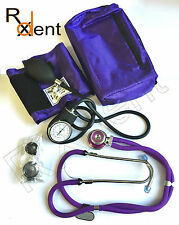 Aneroid Sphygmomanometer & Sprague Rappaport Stethoscope, PURPLE Best Quality