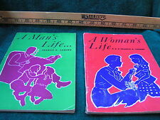 2 Vintage - A MAN'S LIFE & WOMAN'S LIFE - 1950-51 Francis X. Carewe sex FreeShip