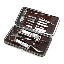 Nail Care Personal Manicure & Pedicure Set, Travel & Grooming Kit, 12 Piece