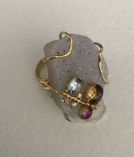 NWT Anthropologie Indulgems Ivied Cocktail Ring Size 8 Purple Stone