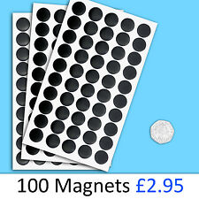 Self Adhesive Magnets Dots 12.5mm Round Disc Thick Sticky Craft Magnet Easy Peel