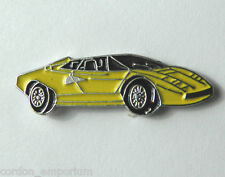LAMBORGHINI YELLOW VEHICLE CAR AUTOMOBILE CAR LAPEL PIN BADGE 3/4 INCH