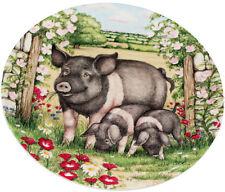Royal Doulton Pigs in Bloom Plate Rosie by Debbie Cook