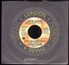 Olympic Runners Party Time Is Here To Stay 45 M- 1977 Funk DJ London 5N-233