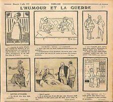 Humour Guerre anti-Boches Mode de Paris Officier Poilus Front Pendules  WWI 1915