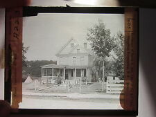 1910 David R Hill Chief of Eel Clan Onondaga Reservation NY glass photo slide