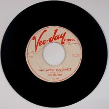 THE SPANIELS: Dear Heart / Why Won't You Dance VEE JAY STRONG VG Super Rare 45