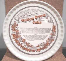 "Royal China Co.   11 1/2"" Italian Cream Cake Oven Dish/Recipe"