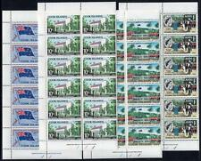 COOK ISLANDS MNH 1965 SG175-78 Self Government Plate 1 Blocks of 12 Set