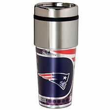 New England Patriots NFL Stainless Steel Graphic Team Logo 16oz Travel Tumbler