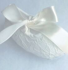 Baby Ivory Lace With Ivory Satin Ribbon Ties Crib Shoes  (Size 6-12 Months)