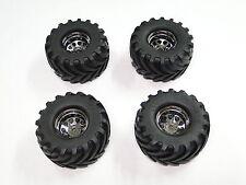 NEW HPI WHEELY KING Wheels Black Chrome & Tires Set of 4 HW13