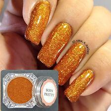 Holographische Holo Orange Laser Effekt Puder Glitzer Maniküre Nagel Glitter #5