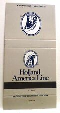 Holland America Line . Match Book Cover . HAL Cruise Ship Ocean Sea Vessel Boat