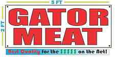 Red 2x5 GATOR MEAT Banner Sign NEW Larger Size Best Quality 4 The $$$ Alligator