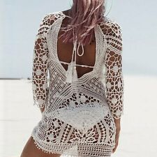 New Women Summer Beach Dress Lace Crochet Bikini Cover Up Swimwear Bathing Suit