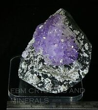 AMETHYST CRYSTAL CLUSTER ON MATRIX #84 includes FREE DISPLAY BASE