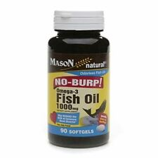 Mason Natural No Burp! Omega-3 Fish Oil, 1000mg, Small Softgels 90 ea (4 pack)