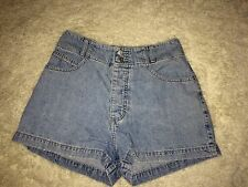 Women's Vintage Guess Shorts Denim High Waisted Light Wash 30
