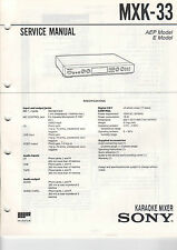 SONY Service Manual MXK-33 - B2104
