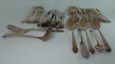 ONEIDA Silverplate KING CEDRIC pattern 62-piece Set Service for 10 to 12