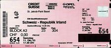 Ticket / Eintrittskarte 11.10.2003 Schweiz - Irland, EM-Qualifikation in Basel