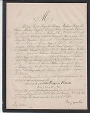 FAIRE-PART DÉCÈS FROGER des CHESNES MAIRE DE VALAIRE - 1875 - LOIR-ET-CHER