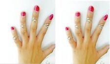 bague de phalange bout de doigt GRIFFE en couleur ARGENT bijoux fantaisie femme
