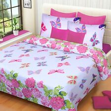 Homefabs 100% Cotton Double Bed Sheet with 2 Pillow Covers (DBS148)