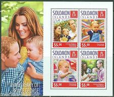 SOLOMON ISLANDS  2014 1st BIRTHDAY PRINCE GEORGE WITH KATE & WILLIAM SHT MINT NH