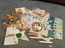 Scrapbooking Stickers Summer Travel Lot Assortment Leftovers Embellishments
