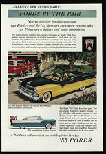 1955 FORD FAIRLANE Sunliner Convertible - Custom Ranch Station Wagon  VINTAGE AD