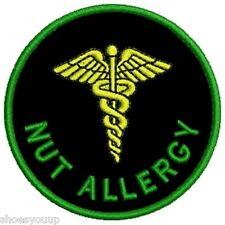 Our NEW Range of Medical Alert Embroidered Patches - Nut Allergy