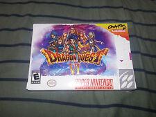 Dragon Quest Vi 6 Super Nintendo Snes TimeWalk Time Walk Games NTSC Reproduction