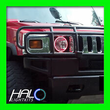 2003-2009 ORACLE HUMMER H2 RED PLASMA Headlight Halo Ring Kit 2 Rings