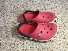 Youth Girl's 3  Crocs Disney Mickey Mouse Red Shoes Ked