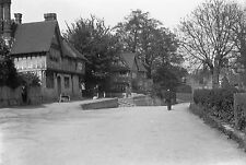 1910s PENSHURST #1 Antique Photographic Glass Negative (Village Sevenoaks Kent)