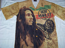 Zion Rootswear Men's Bob Marley Button Up Shirt Small
