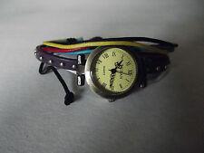 Lady Women Classic Roman Dial Wrap Leather Strap Watch