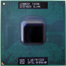 CPU Intel Dual Core DUO Mobile T2330 1.60/1M/533 SLA4K processore socket 478 479