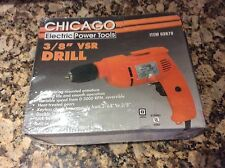 Chicago Electric 3/8 vsr Power Drill New In Box