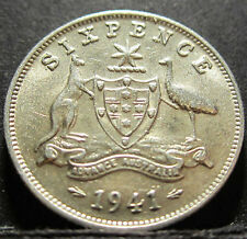1941 Australia 6d Sixpence #RB641 =HIGH GRADE=