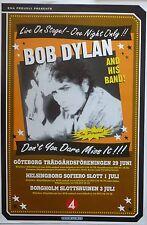 BOB DYLAN SWEDEN 2003 CONCERT TOUR POSTER