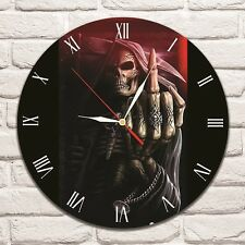Death F..ck Color design vinyl record wall clock home shop office collector
