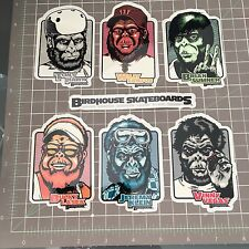2002 Vintage Birdhouse Planet of the Ape Parody Tony Hawk Skateboard sticker Set